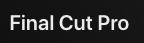 Final Cut Proo